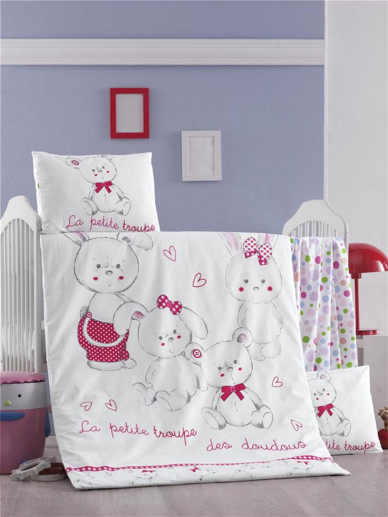 Zirve Home Bebek Uyku Seti 100 Pamuk (Yorgan ve +2 Yastıklı)